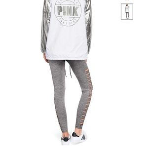 PINK cool & comfy Grey leggings with cut outs